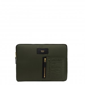Wouf Camo Bomber iPad hoes green Laptopsleeve