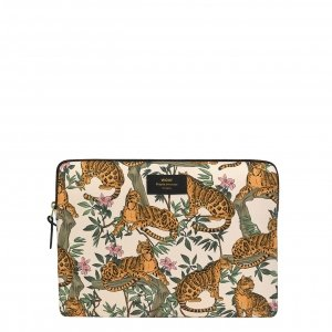 "Wouf Lazy Jungle Laptophoes 13"" beige Laptopsleeve"