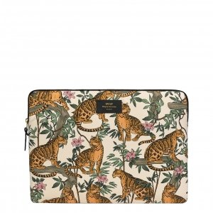 "Wouf Lazy Jungle Laptophoes 15"" beige Laptopsleeve"