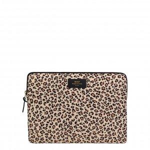 "Wouf Pink Savannah Laptophoes 13"" pink leopard Laptopsleeve"