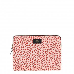 """Wouf White Hearts Laptophoes 13"""" wit Laptopsleeve"""