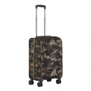 CarryOn Camouflage 4 Wiel Trolley 55 green Harde Koffer