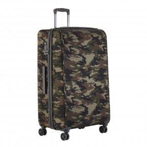 CarryOn Camouflage 4 Wiel Trolley 79 green Harde Koffer