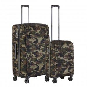 CarryOn Camouflage Trolleyset 2 pcs green