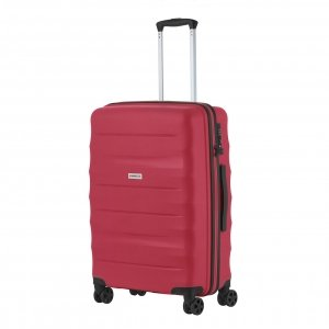 CarryOn Porter Trolley 66 red Harde Koffer