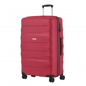 CarryOn Porter Trolley 77 red Harde Koffer