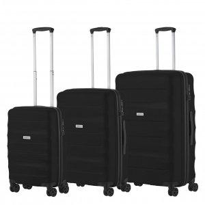CarryOn Porter Trolleyset 3pcs black Harde Koffer