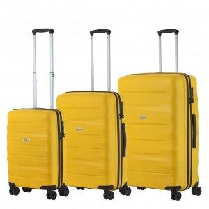 CarryOn Porter Trolleyset 3pcs yellow Harde Koffer