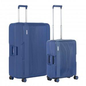CarryOn Protector Trolleyset 2pcs blue Harde Koffer