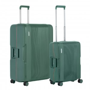 CarryOn Protector Trolleyset 2pcs green Harde Koffer