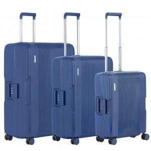 CarryOn Protector Trolleyset 3pcs blue Harde Koffer