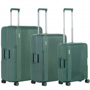 CarryOn Protector Trolleyset 3pcs green Harde Koffer