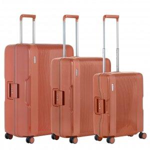 CarryOn Protector Trolleyset 3pcs terra Harde Koffer