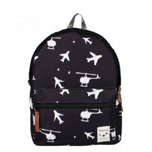 Kidzroom Backpack Lucky Me black planes Kindertas