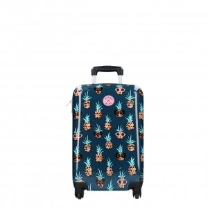 Kidzroom Trolley Suitcase Milky Kiss En Route petrol Harde Koffer