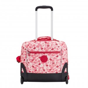 Kipling Giorno Trolley pink leaves Pilotenkoffer