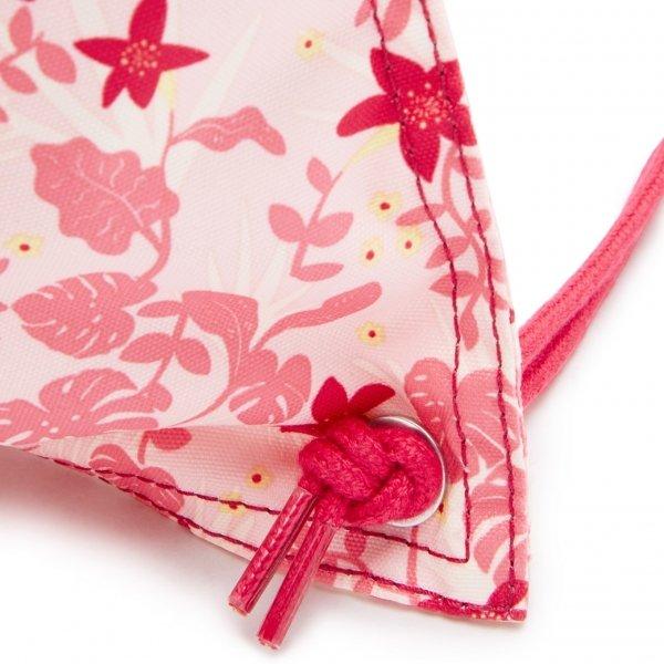 Kipling Supertaboo Gymsack pink leaves van Nylon
