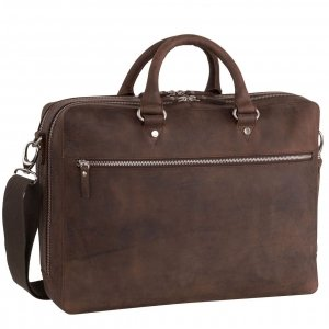 Leonhard Heyden Salisbury Briefcase 2 Compartments brown