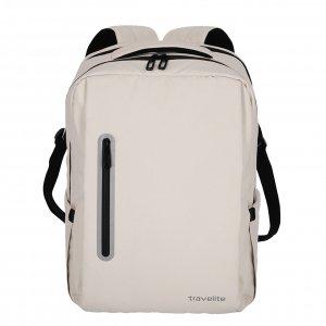 Travelite Basics Boxy Waterproof Backpack off-white Laptoprugzak