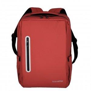 Travelite Basics Boxy Waterproof Backpack red Laptoprugzak