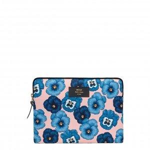 Wouf Azur iPad hoes blue flowers Laptopsleeve