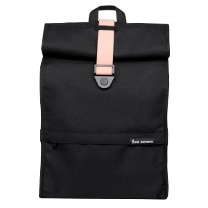 Bold Banana Roll Top Backpack black rose backpack