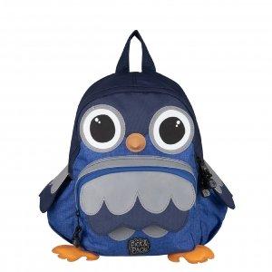Pick & Pack Owl Shape Backpack blue melange Kindertas
