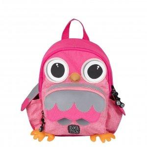 Pick & Pack Owl Shape Backpack pink melange Kindertas