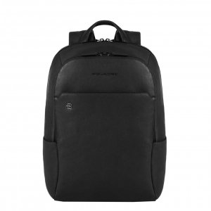 Piquadro Black Square Computer Backpack with iPad Compartment black II backpack