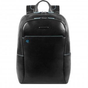 Piquadro Blue Square Computer Backpack with iPad Compartment black backpack