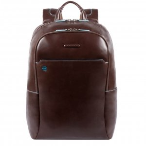 Piquadro Blue Square Computer Backpack with iPad Compartment dark brown backpack