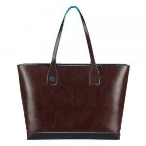 Piquadro Blue Square Shopping Bag with iPad Compartment brown Aktetas