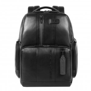 Piquadro Urban Fast-check PC Backpack with iPad Compartment black backpack