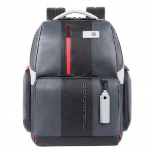 Piquadro Urban Fast-check PC Backpack with iPad Compartment grey-black backpack