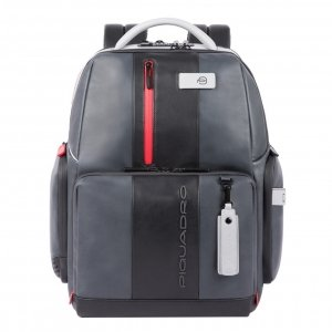 Piquadro Urban PC and iPad Backpack with Anti-theft cable grey-black backpack