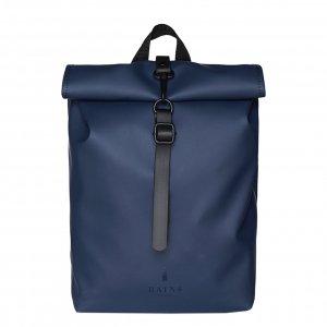 Rains Rolltop Mini blue backpack