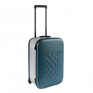 Rollink Flex Vega Opvouwbare Handbagage koffer deep lagoon Harde Koffer