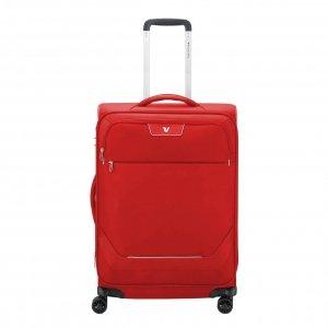 Roncato Joy Medium Trolley 63 Expandable red Zachte koffer