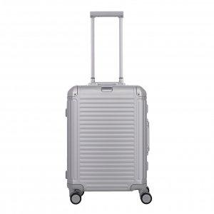 Travelite Next Aluminium 4 Wiel Trolley S silver Harde Koffer