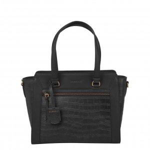 Burkely Croco Cassy Handbag S black Leren tas