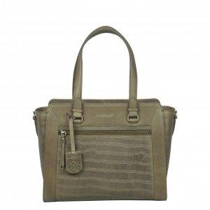 Burkely Croco Cassy Handbag S golden green Leren tas