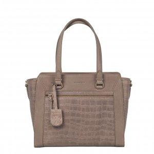 Burkely Croco Cassy Handbag S pebble taupe Leren tas