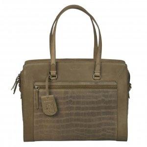 Burkely Croco Cassy Workbag 15.6'' golden green