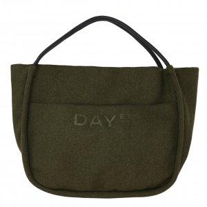 Day Et Woolen Mega Shopper dark olive