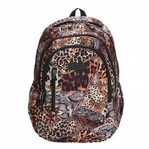 Enrico Benetti Capetown Rugtas 15'' dierenprint bruin backpack