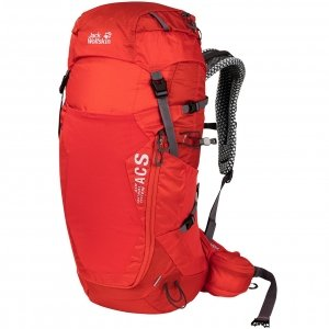 Jack Wolfskin Crosstrail 32 LT Hiking Pack fiery red backpack