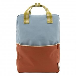 Sticky Lemon Colourblocking Backpack Large blueberry willow brown pear green