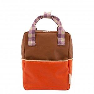 Sticky Lemon Colourblocking Backpack Small orange juice plum purple schoolbus brown Kindertas