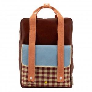 Sticky Lemon Gingham Backpack Large cherry red sunny blue berry swirl backpack