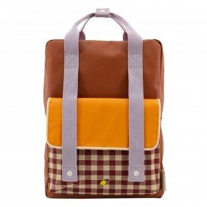 Sticky Lemon Gingham Backpack Large chocolate sundae daisy yellow mauve lilac backpack